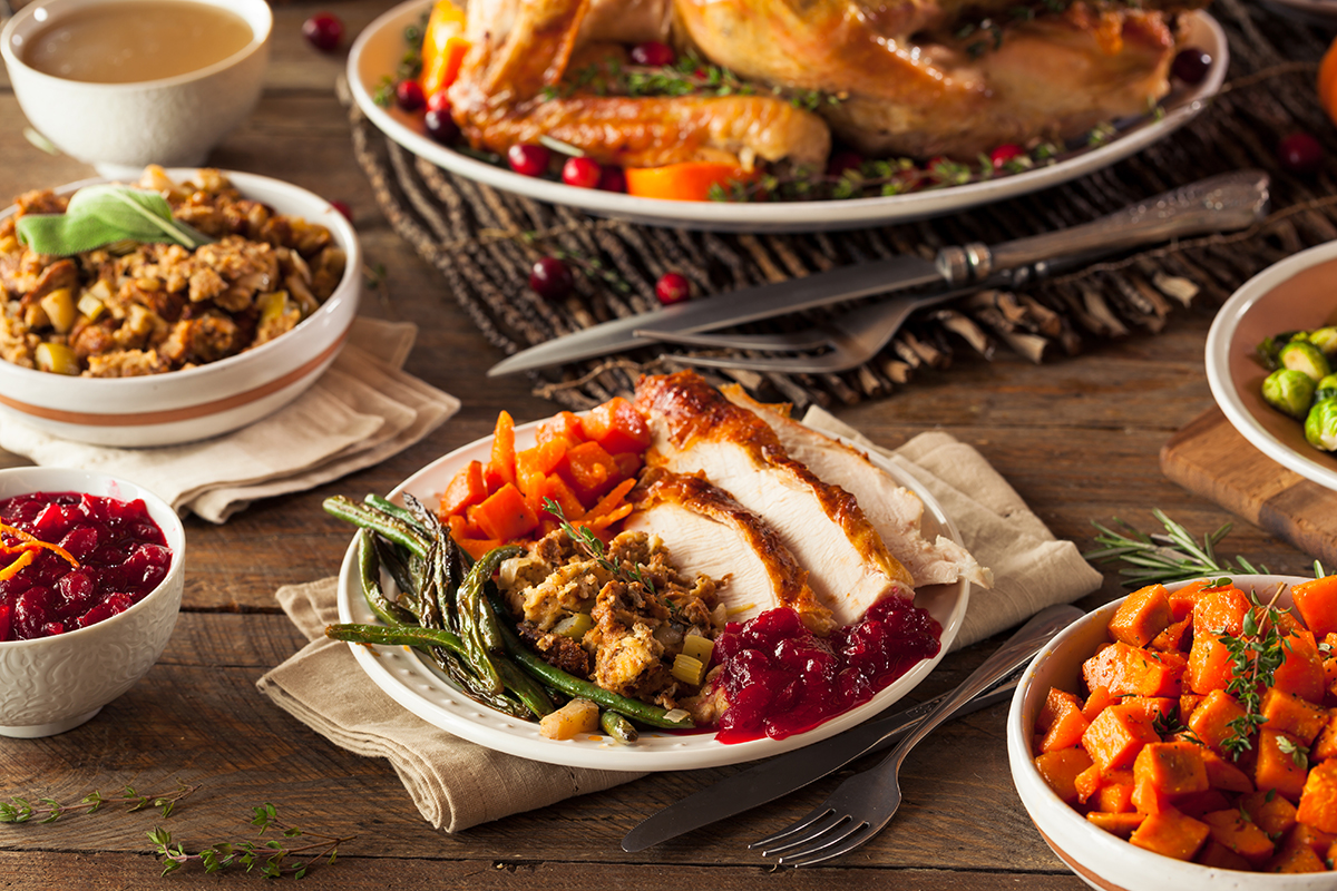 Home-made Thanksgiving dinner