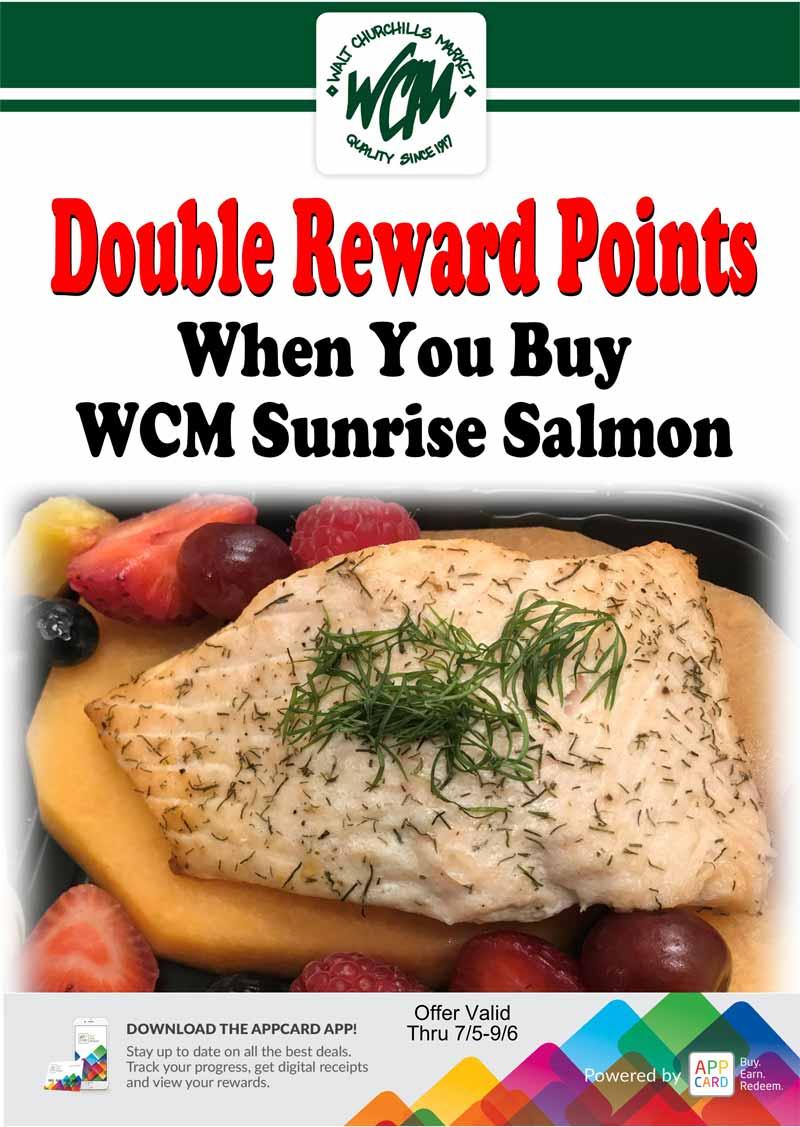 Double reward points when you buy WCM Sunrise Salmon