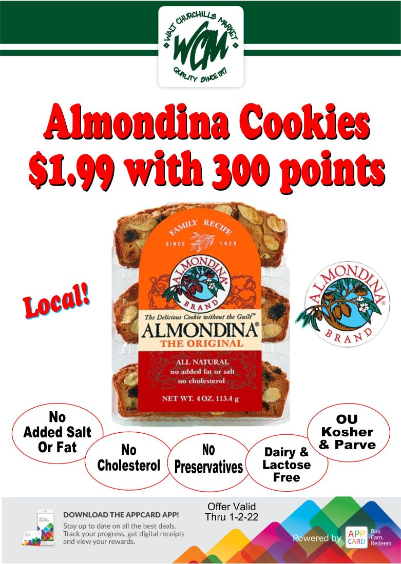 Almondina Cookies $1.99 with 300 points